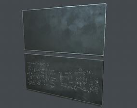 Blackboard PBR Game Ready 3D asset