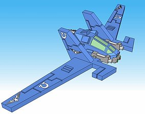 6mm Gull Sci-Fi Reconnaissance Fighter 3D printable model
