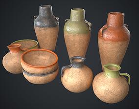 Vase Old Painted Pack 3D asset