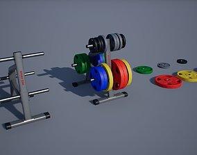 Bumper Plate Storage Rack 3D model
