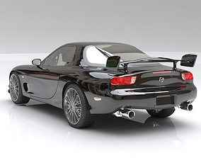 Mazda RX-7 Spirit Black 3D tuned