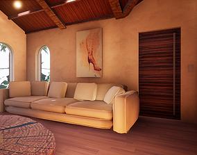 SHC Spanish Modern House 1 3D asset