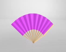 Paper Fan v1 005 3D asset