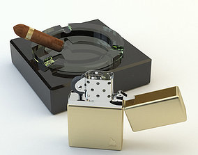 3D model Zippo lighter cigar