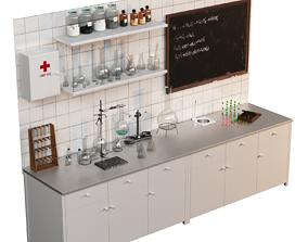3D Vintage chemical laboratory