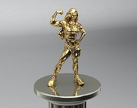 Bodybuilder sculpture 3D