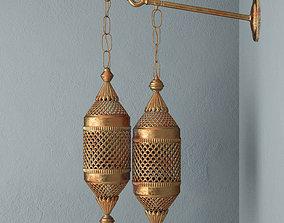 3D Moroccan Double Lantern Sconce
