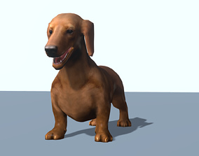 3D model game-ready Animated dacshund