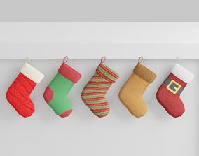 3D asset Christmas Socks G39
