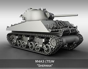 3D model M4A3 75W - Sherman