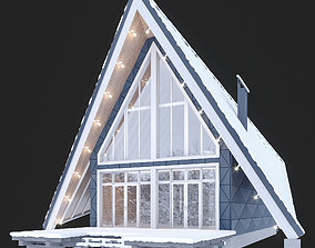 Winter house in the forest 3D model