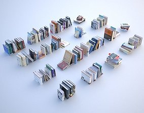asset 100 unique books 001 3D