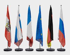 Floor Flags 3D