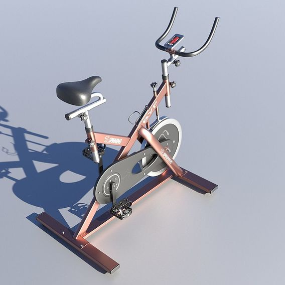Stationary Spinning Bike 3D Model