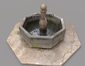 Public Fountain 3D PBR