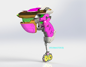 Overwatch Dva academy 3d model separate for printing