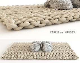 3D Carpet and Slippers