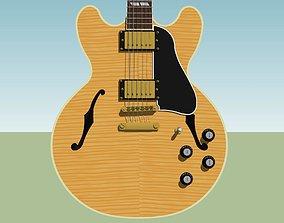 3D Guitar - Gibson ES Hollow Body - Blonde Stripe Finish