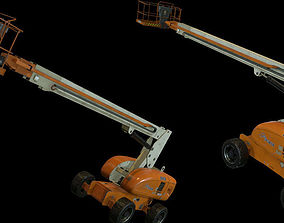 3D asset Rigged and animated Boom Lift