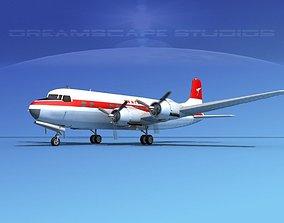Douglas DC-6 Qantas 3D