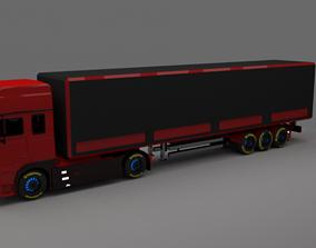 3D model 20foot Heavy Lorry