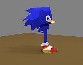 Sonic 3D model game-ready