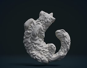 carving Cat bas-relief 3D printable model