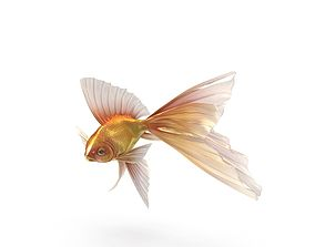 Fantasy Gold Fish 3D model