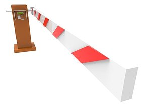 3D model sign Road Barrier