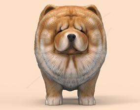 Cute Chow Chow STL and VRML 3D print model