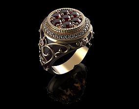 3D print model Mens Ring Diamond 3