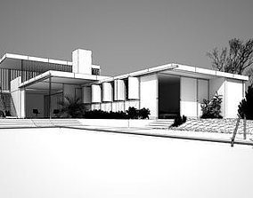 3D model Modern House With Swimming Pool
