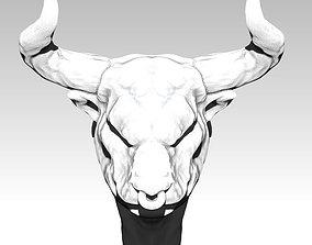 Bull head with horn 3D printable model
