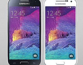 Samsung Galaxy S4 mini I9195I black whita 3D model