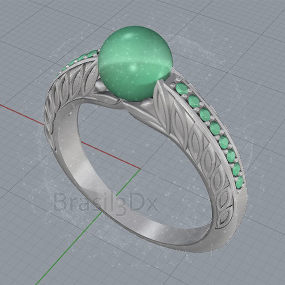 Ring pearl 3D file