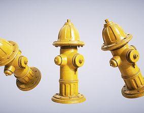 Hydrant Yellow 3D asset