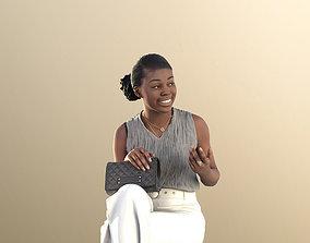 Black Business Woman Elegant Sitting 3Dhuman game-ready 2
