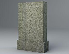 3D model Gravestone 4 Low Poly