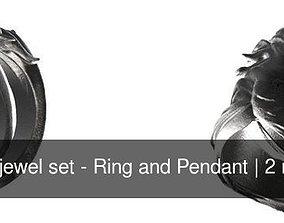 Horse jewel set - Ring and Pendant 3D model