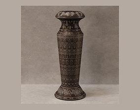 3D model vase embossed