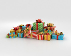 3D model paper Gift Boxes