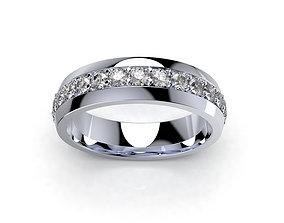 Diamond Women Ring Band For Wedding Set- 3D print model 3