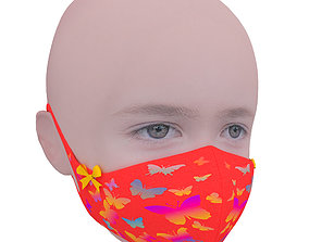 Medical mask for kids 3D model game-ready
