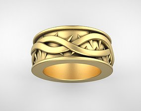 3D print model wedding ring with thorn