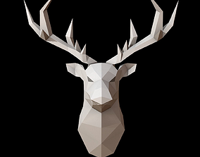 3D asset Deer Head