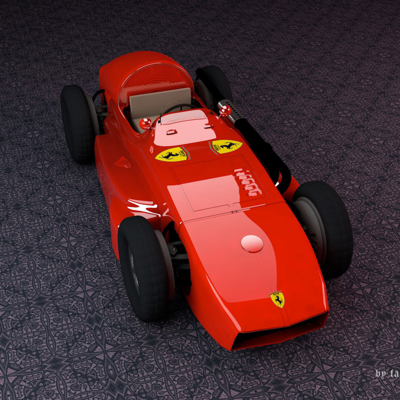 Ferrari Type 555 SuperSqualo 3D Model With Cinema 4D