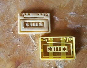 3D printable model Tape Cassette Cookie Cutter