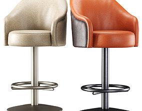 Amanda leather bar stool 3D
