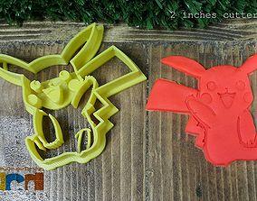 Pokemon Hi Pikachu cookie cutter 3D print model