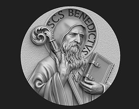 jewellery Saint Benedict Medallion 2 3D print model